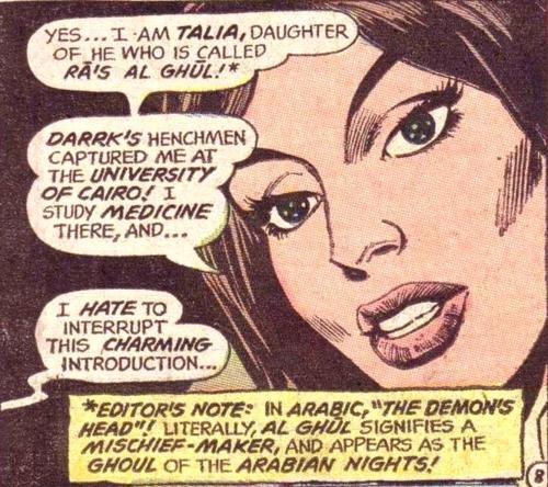 Talia al Ghul - Detective Comics 411