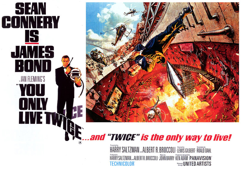 you only live twice quad poster