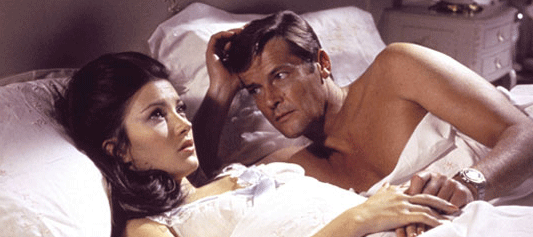 Bond Limericks - Roger Moore and Jane Seymour in Live and Let Die