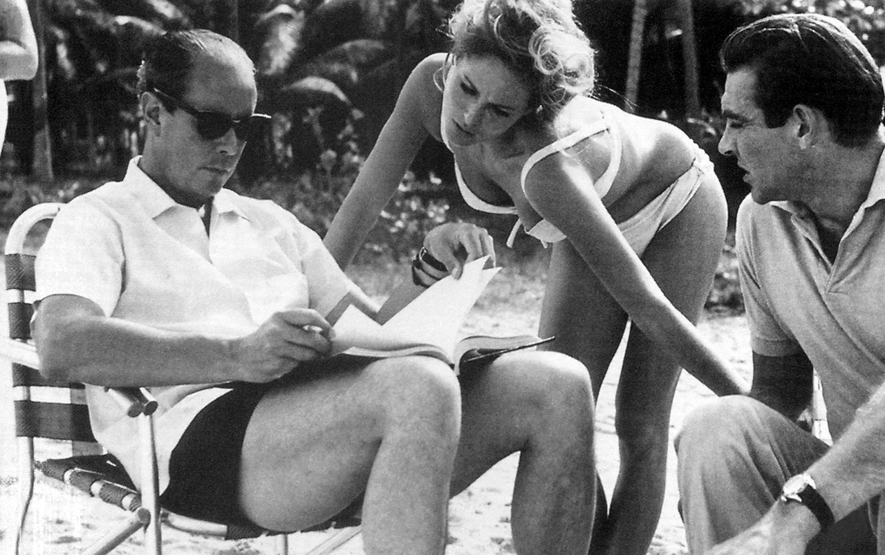 Terence Young, Sean Connery and Ursula Andress - Dr. No