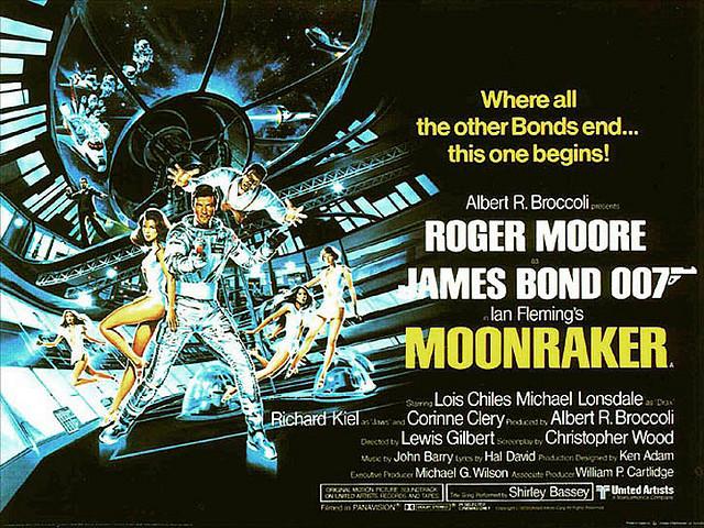 Moonraker uk quad poster