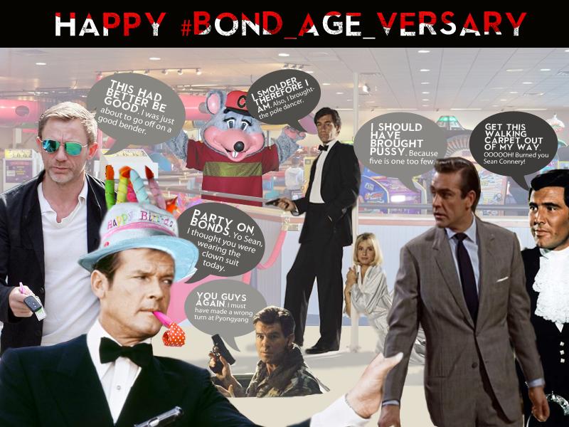 The James Bonds celebrate the 1-year #Bond_age_versary