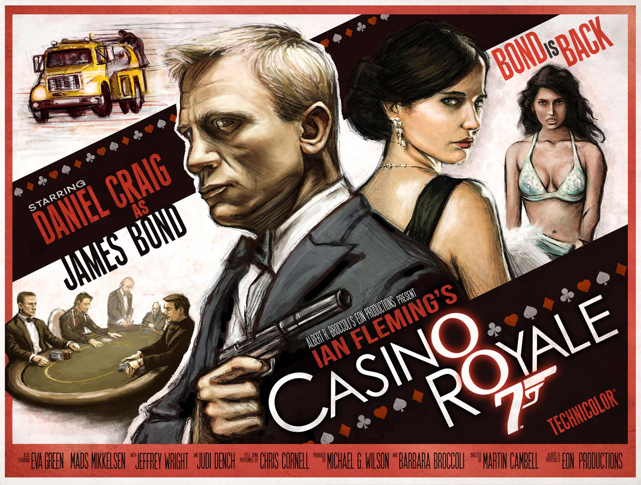 An amazing FRWL-inspired retro poster for Casino Royale by Jeff Chapman.