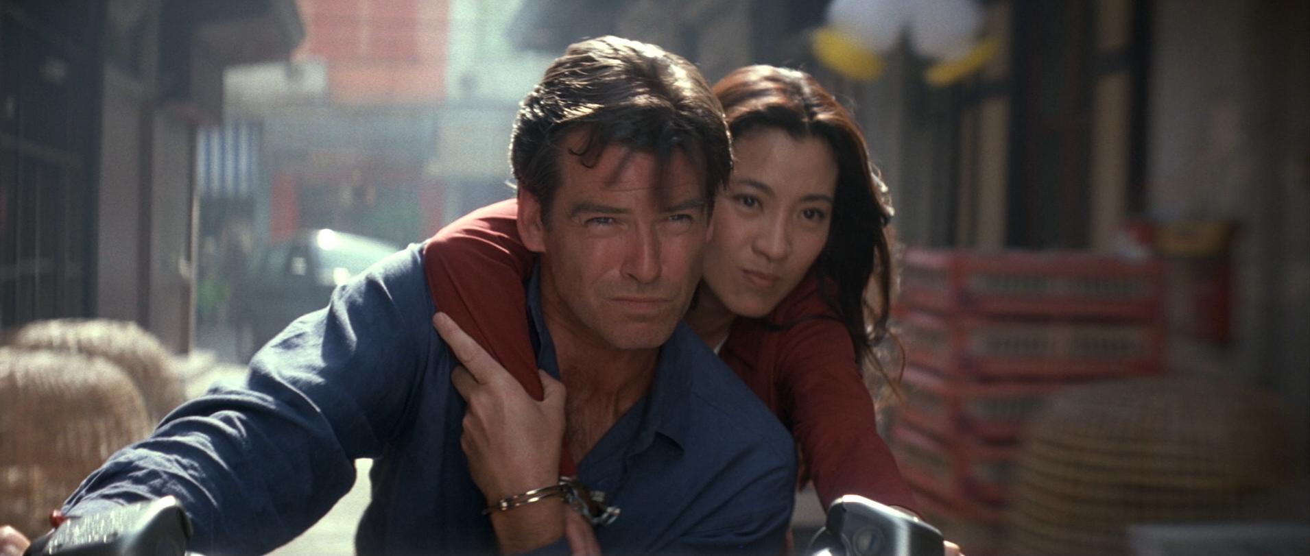 Motorcycle chase - Tomorrow Never Dies