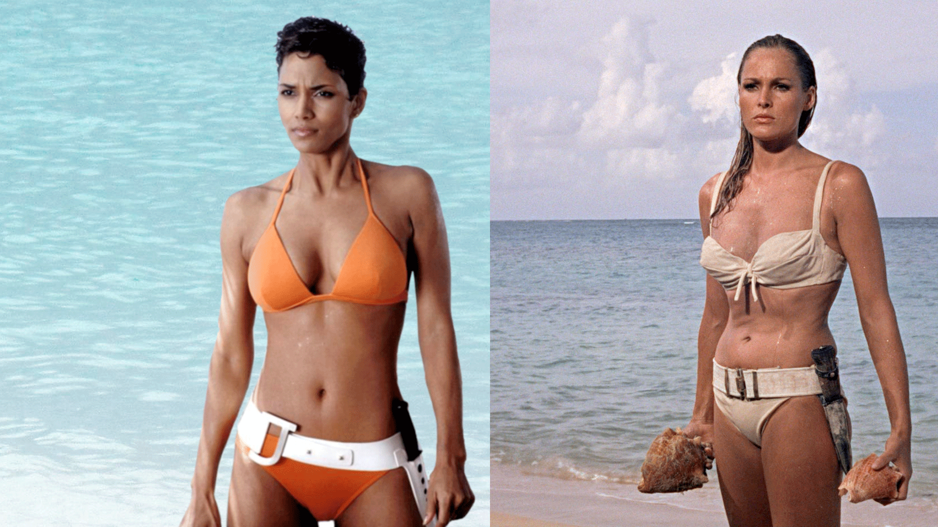Halle Berry in Die Another Day vs. Ursula Andress in Dr. No