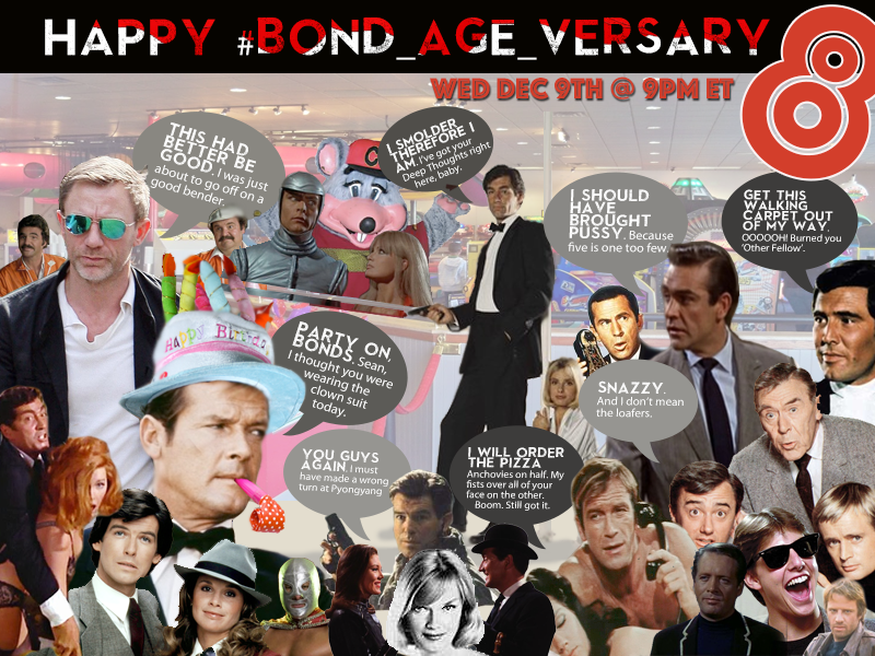 #Bond_age_versary 8 featuring the #Goldeneye25 Live Tweet